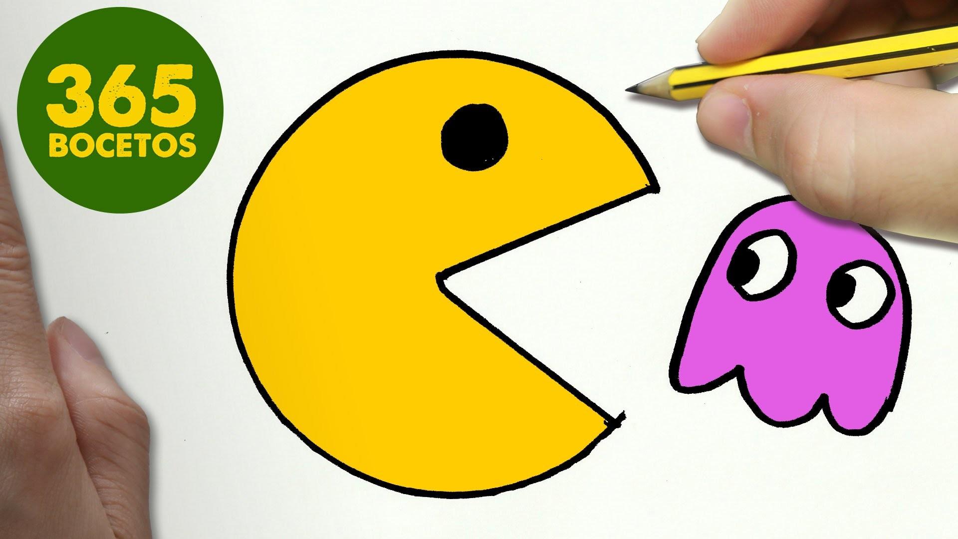 Como Dibujar Un Pac Man Kawaii Paso A Paso Dibujos Kawaii Faciles