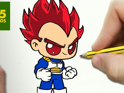 COMO DIBUJAR VEGETA DIOS KAWAII PASO A PASO - Dibujos kawaii faciles - How to draw a VEGETA GOD