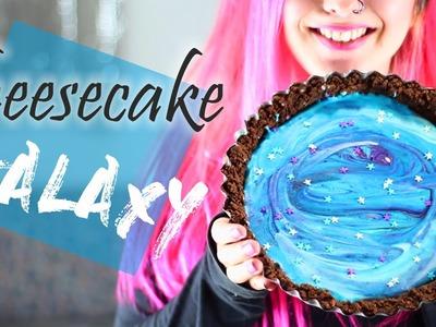 Como hacer CHEESECAKE GALAXY ✩ ¡receta sin horno! - Ann Look