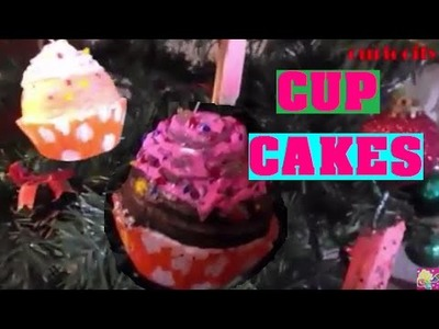 COMO HACER CUP CAKES.ADORNOS NAVIDEÑOS