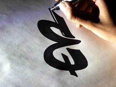 Como hacer letras de graffitis - Dibujar abecedarios pintar graffiti nombres 3D [HD]