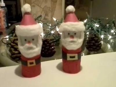 Como hacer un santa Claus con carton reciclado. (Navidad)
