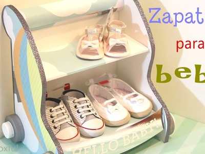 Cómo hacer una Zapatera para bebé en forma de carrito