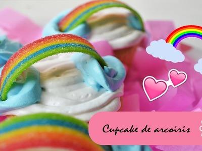 CUPCAKES ARCOIRIS - MINI TUTO :::. ♡ ♡ ♡