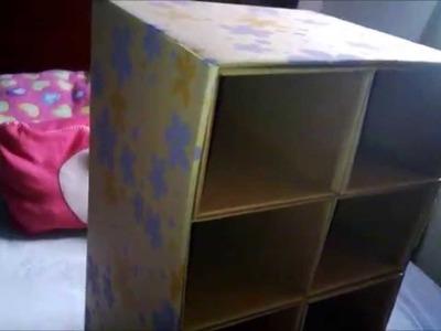 DIY forra tu zapatera de cartón!!