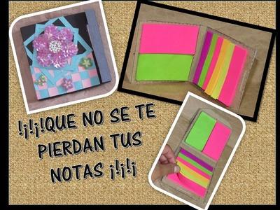 DIY: Porta Post it o notas adhesivas. organizador de Post-it