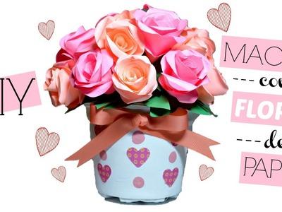 Maceta con Rosas de Papel para San Valentín│Espacio Creativo