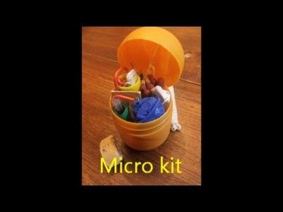 Micro kit de supervivencia (de bolsillo)