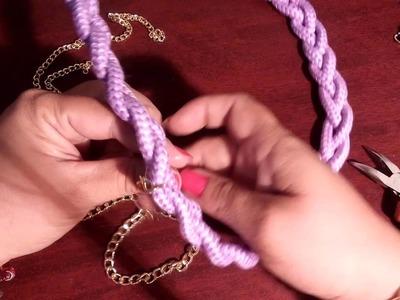 Trenzado de cordon y cadenas