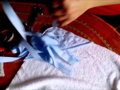Como hacer toalla capa de bebé