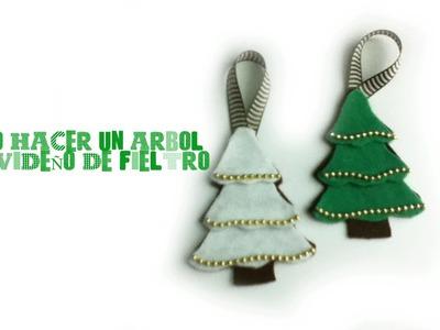 Como hacer un arbol de navidad en fieltro
