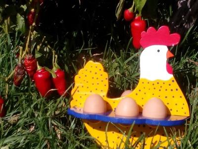 Como Hacer una Gallina Porta Huevos en Mdf