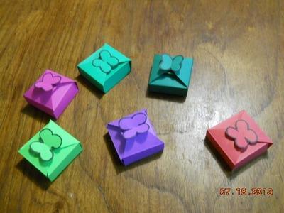 Cómo hacer una minicajita-How to make a box-