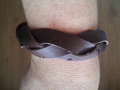 Cómo hacer una pulsera de cuero trenzada muy fácil | facilisimo.com