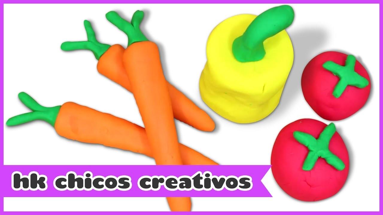 Cómo hacer Vegetales con Plastilina | HooplaKidz Chicos Creativos