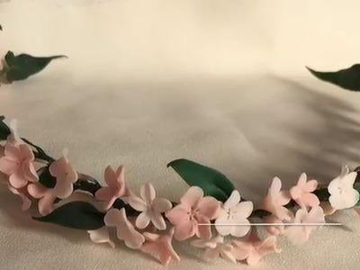 Como Montar Un Tocado De Flores De Porcelana