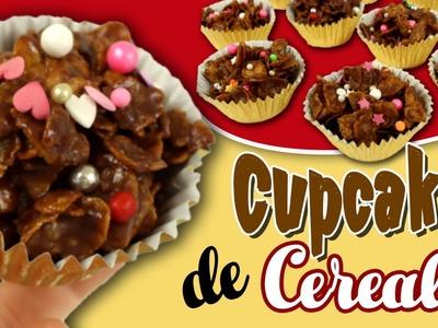 CUPCAKES de chocolate y CEREALES * RECETAS fáciles para niños