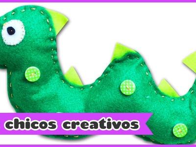 Dinosaurio de Fieltro | HooplaKidz Chicos Creativos