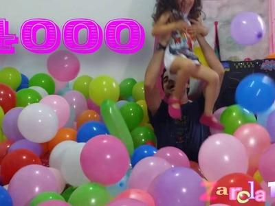 Globo challenge reto llenar habitacion de globos ¡¡¡¡¡¡ CELEBRAMOS los 4000 suscriptores