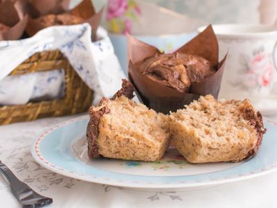 Muffins de plátano y Nutella® - Receta - María Lunarillos | tienda & blog