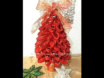 PINO NAVIDEÑO HECHO CON TUBOS DE CARTÓN. DIY. How to make a Christmas pine