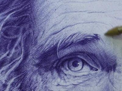 Retrato dibujo bolígrafo # 2 - HD