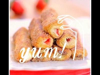Rollos de fresa con crema!