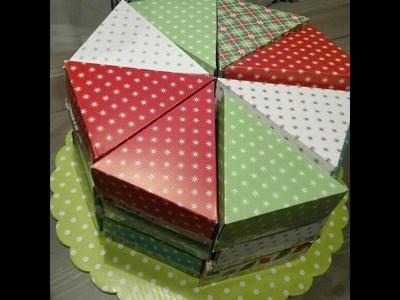 Tarta porciones #cajitas #cumpleaños # navidad