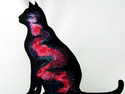 Cómo Colorear un Gato con Acuarelas (Galaxy effect) + Bonus Clip | ArteMaster