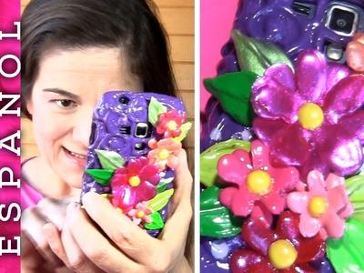 Cómo hacer Funda de móvil de silicona y esmalte de uñas, con flores