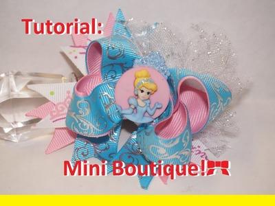 Como hacer moño boutique de Cinderella o Moño de Cinderella!