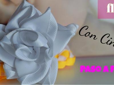 Como hacer una flor  con cinta.♥ | Max Q Wapa DIY
