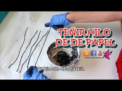 Como teñir el hilo de papel de servilleta