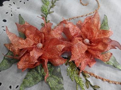 Nochebuena Rustica para Individual Rural Poinsettia Parte 1
