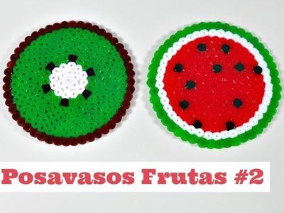 Posavasos de Frutas #2 | Rodajas de Kiwi y Sandia con HamaBeads | Mundo@Party