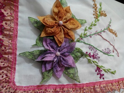 PUNTADA DECORATIVA EN UNA SERVILLETA (decorative stitch on a napkin)