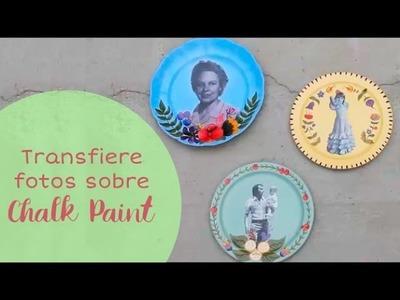 Transfiere Imágenes sobre Chalk Paint y Decora unos preciosos Platos ⭐️