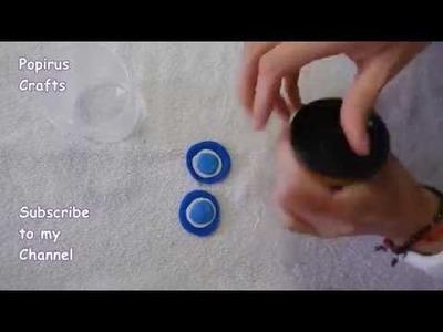 Cómo hacer dijes con masa Play Doh  (Ojo turco) DIY |Popirus Crafts