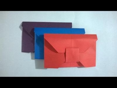 COMO HACER UN SOBRE PARA CARTA DE PAPEL - origami gift wrap
