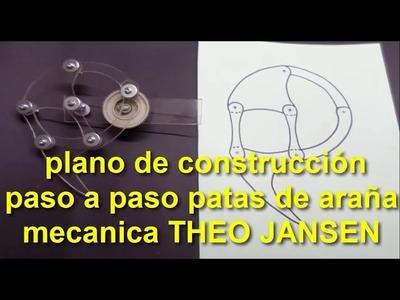 Construcción araña robotica THEO JANSEN (1 parte) construction plane stepper mechanical spider