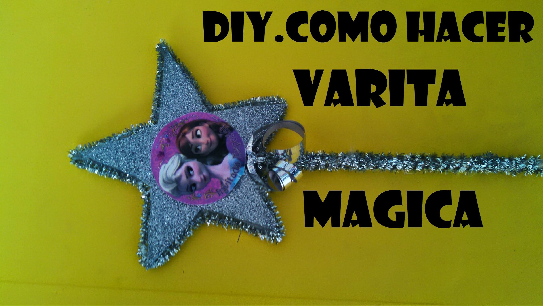 DIY.COMO HACER UNA VARITA MAGICA PERSONALIZADA PARA FIESTAS INFANTILES