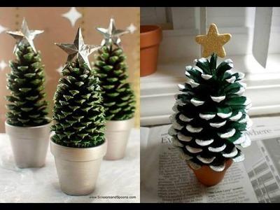 Manualidades para Navidad: Arbolito de Navidad con Piñas de pino