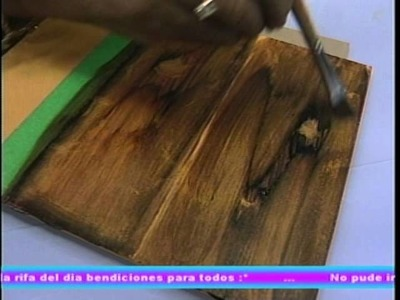 Revistero de Ideas con la Prof Rosa Morales. Repujado sobre servilleta e imitación madera 2.2