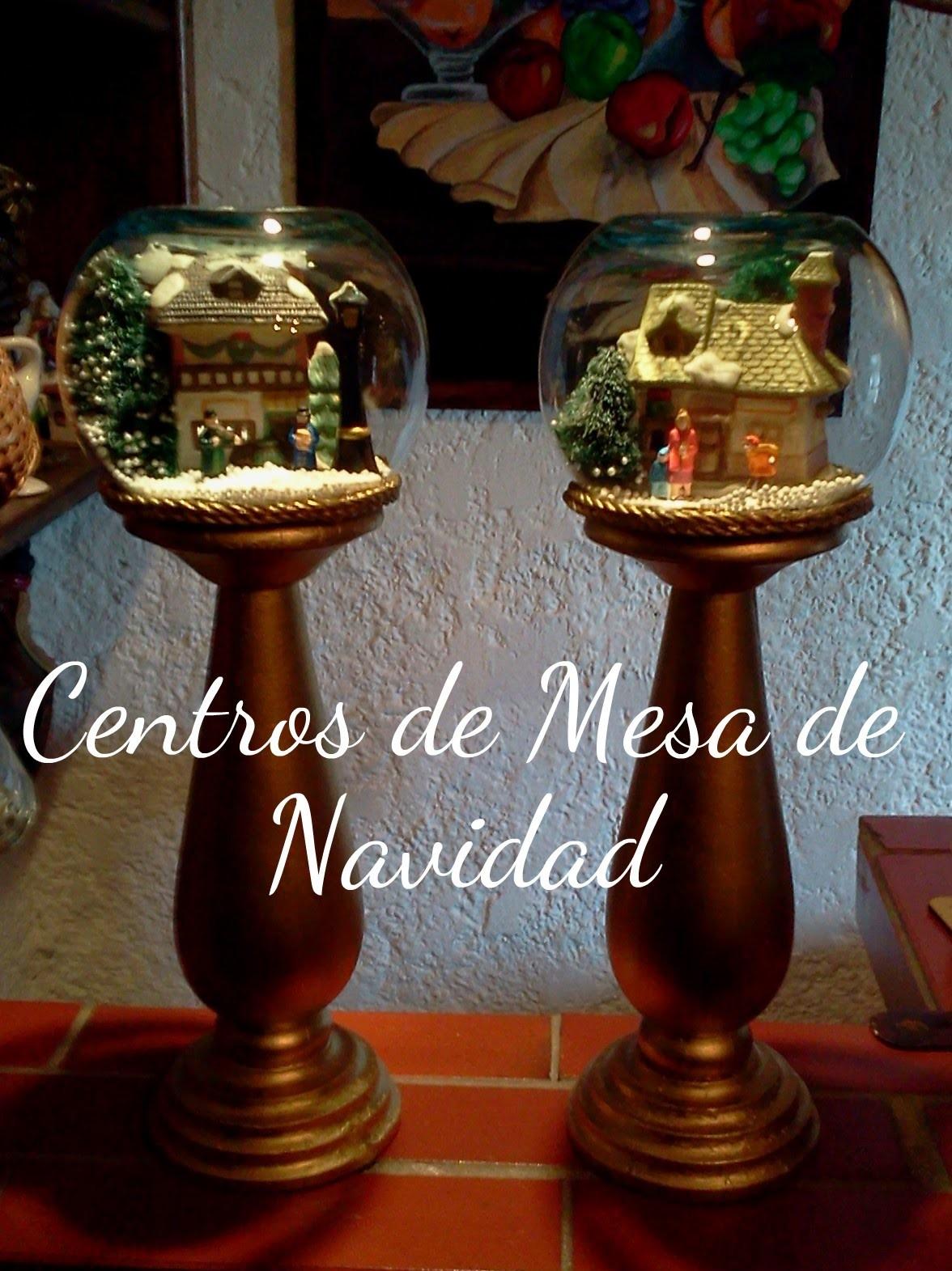 Adornos navideos faciles para realizar centros de mesas de navidad