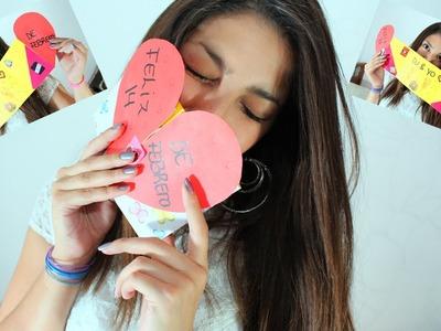 1 San Valentin Falso Vitral Corazon Para Pintar 14 De Febrero
