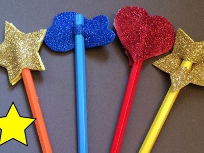 Cómo decorar lápices con goma eva (vuelta al cole)