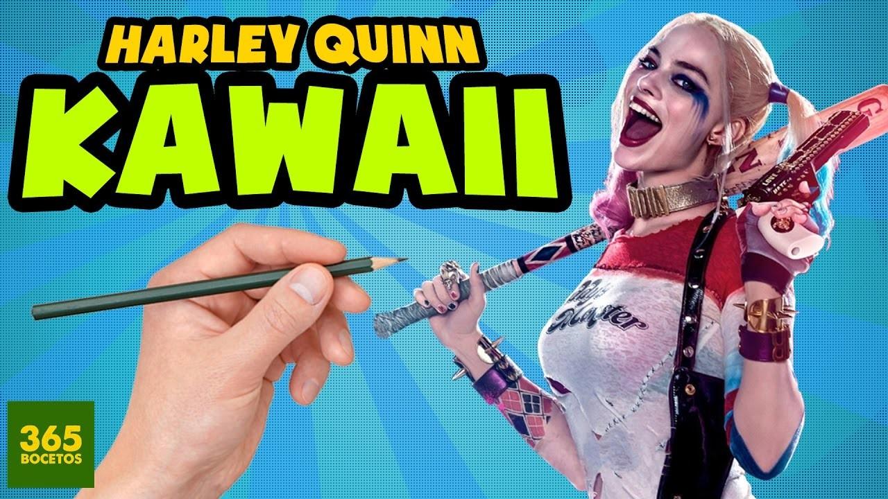 Como Dibujar A Harley Quinn Estilo Kawaii Como Dibujar A