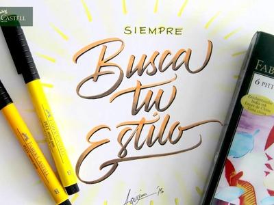 Cómo hacer caligrafía y lettering con los marcadores PITT artist pen de Faber-Castell