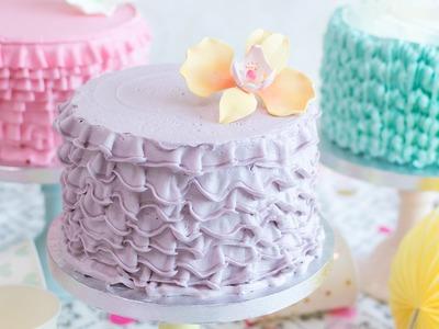 Cómo hacer ruffle cakes o tartas con volantes - Tutorial - María Lunarillos | tienda & blog