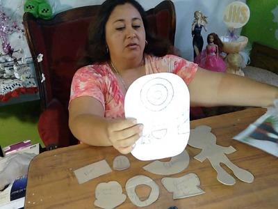 Como sacar moldes [Facil]  para hacer figuras o personajes  de fomi o fieltro❤❤
